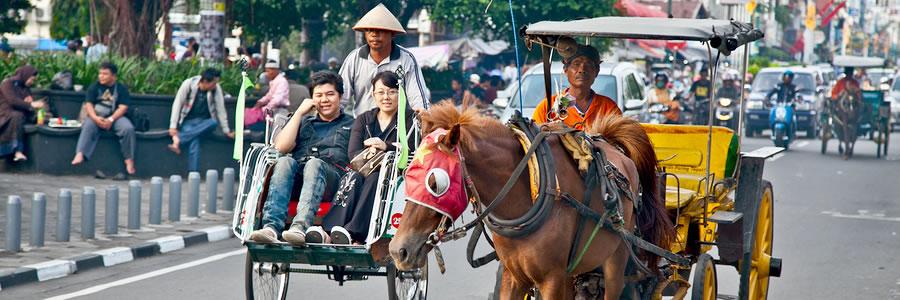 Busy traffic in Jakarta