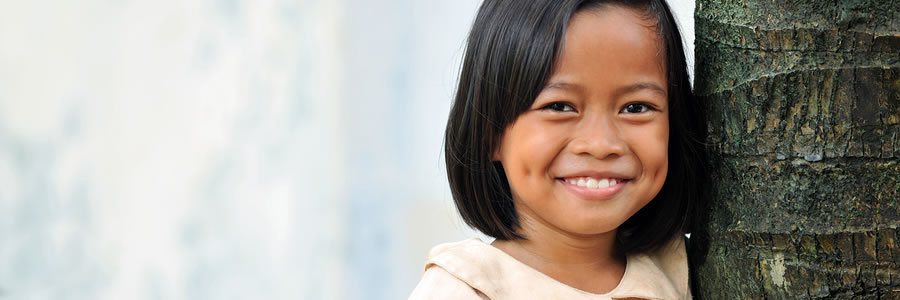 Young Indonesian girl with a cute smile
