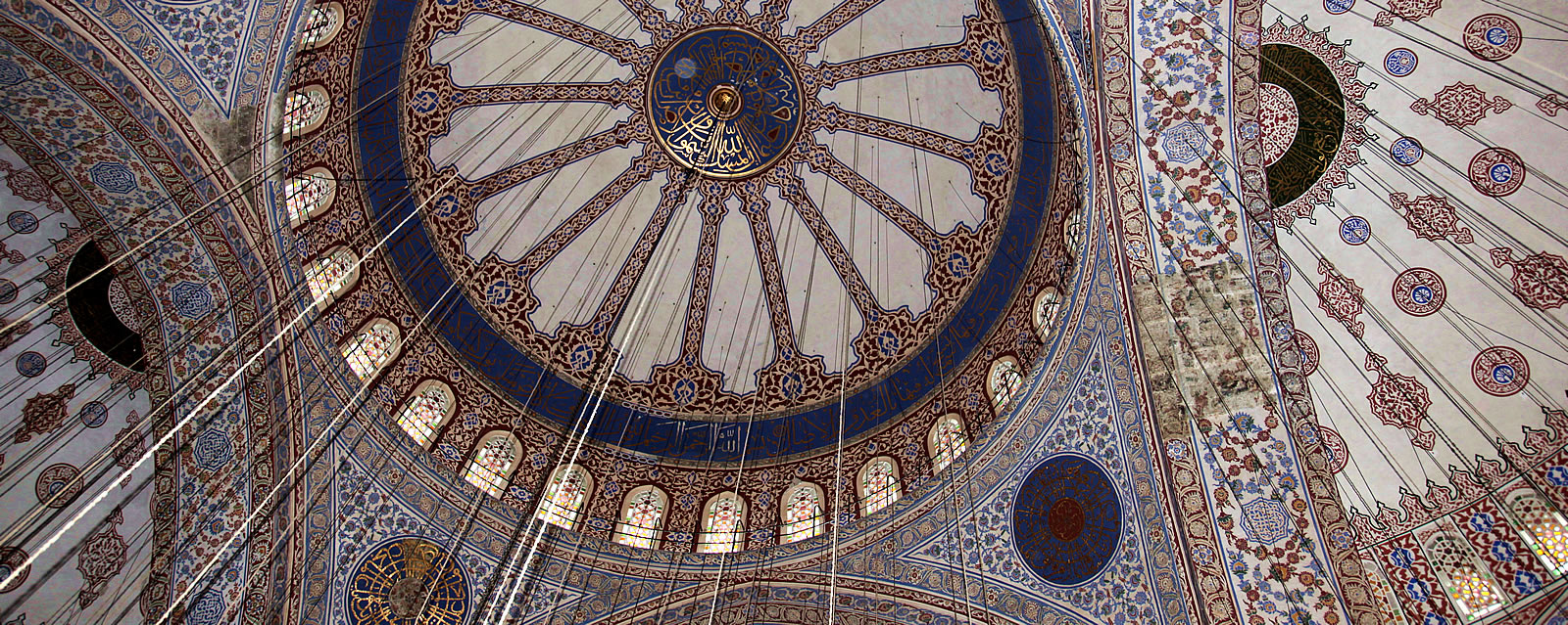 Ceiling of Blue Mosque in Istanbul