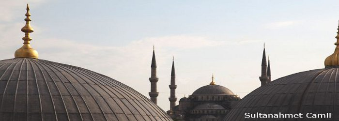View of Blue Mosque taken from Hagio Sofia