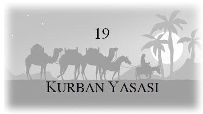 19. Kurban Yasası